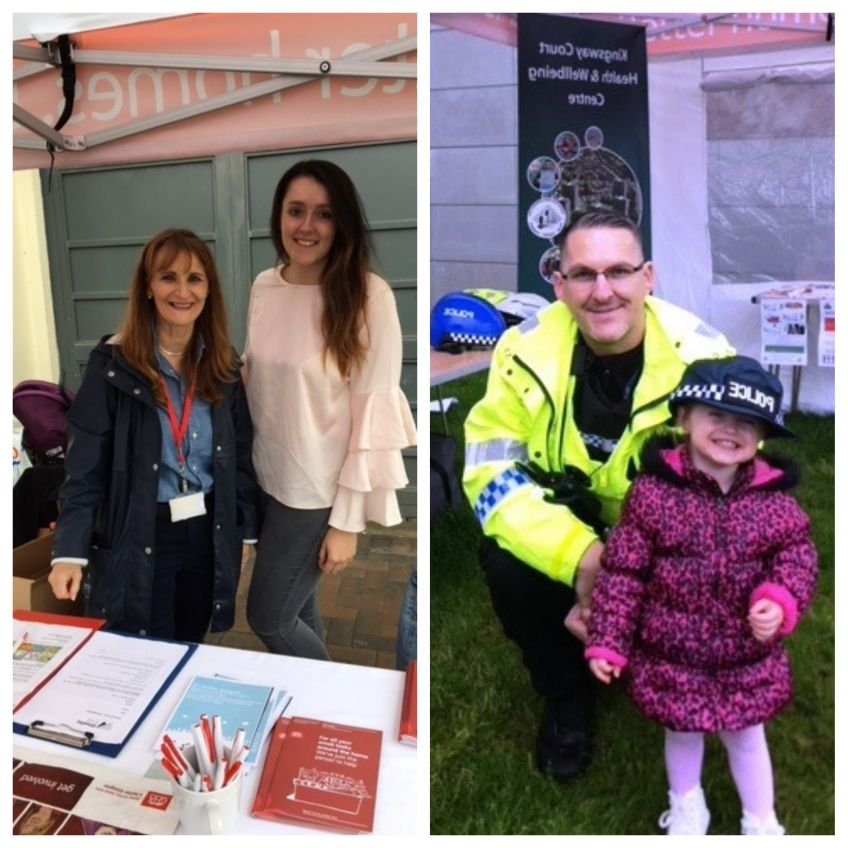 tenants and staff at Kingsway Gala and Harvest Festival