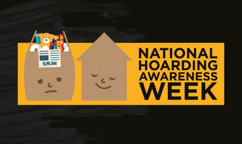 National Hoarding Awareness Week black graphic