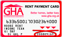 Picture of rent card