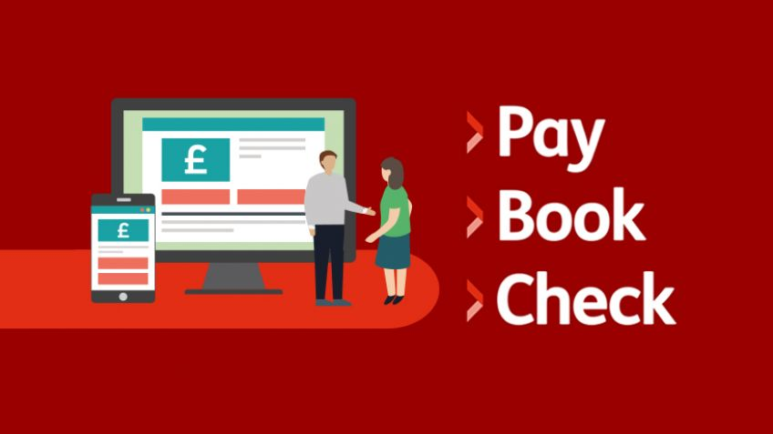 Pay Book Check online services graphic
