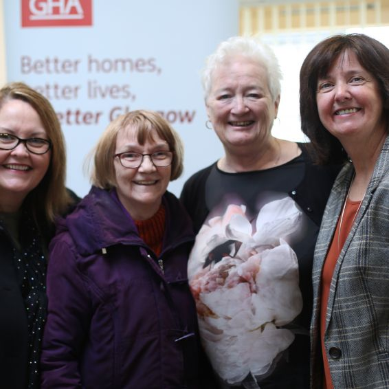 tenants celebrate opening of new community room at Jura Court, cardonald