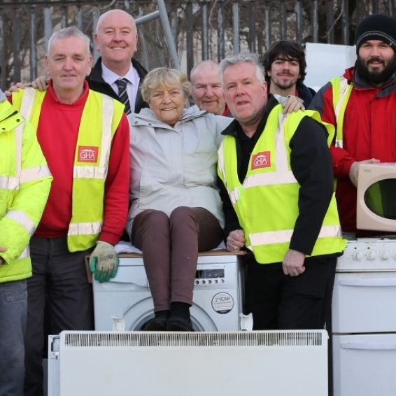 Recycled white goods helped fund local projects