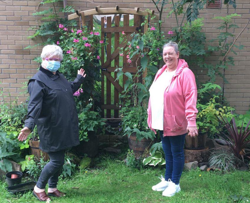 Neighbours in the beautiful garden in Dennistoun