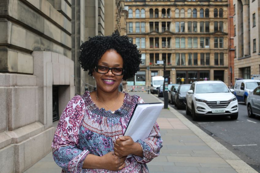GHA tenant Funmi Komolafe found work after signing up for Routes into Care.