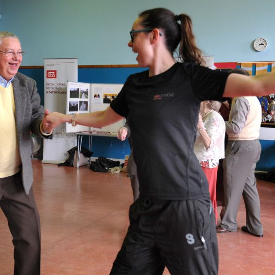 Older tenants put their best feet forward at a tea dance