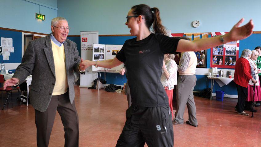 Older tenants put their best feet forward at a tea dance