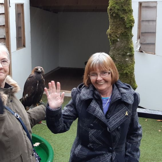 Tenants visited Loch Lomond bird of prey centre