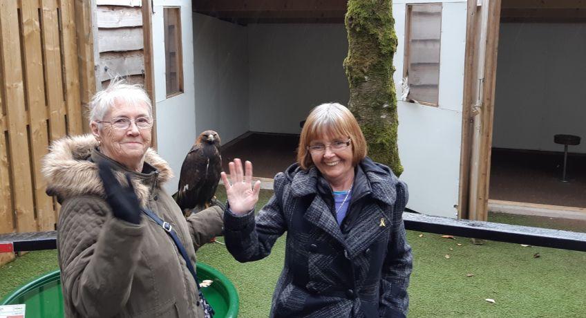 Tenants visited Loch Lomond bird of prey centre