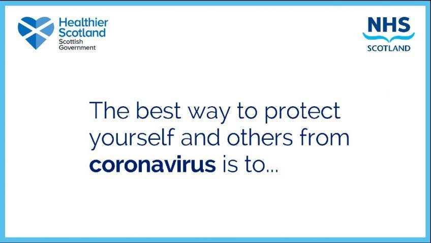 Coronavirus advice video image