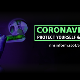 Coronavirus door handle image