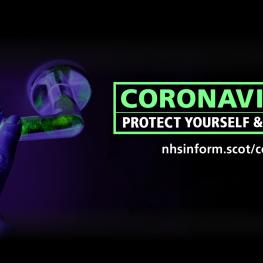 Coronavirus door handle image