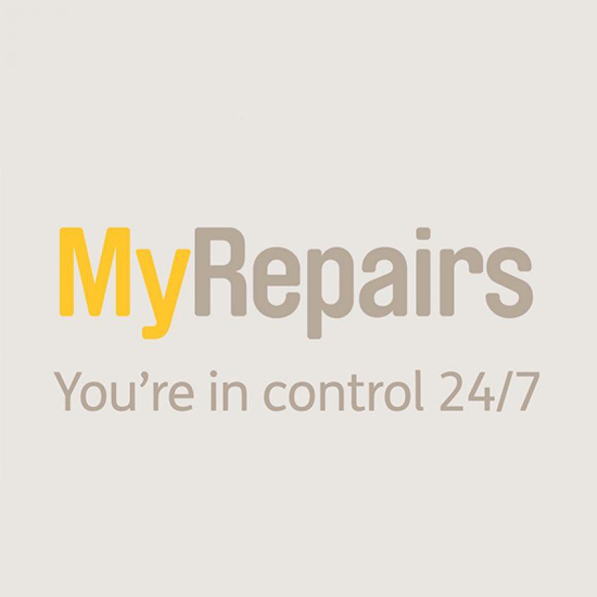 MyRepairs logo landing page