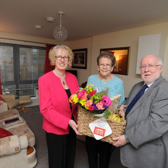 Housing Minister Margaret Burgess opens new Barmulloch homes