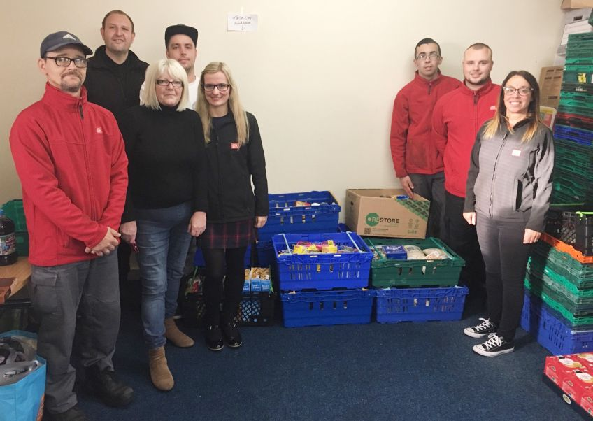 GHA staff made a collection for Drumchapel Food Bank