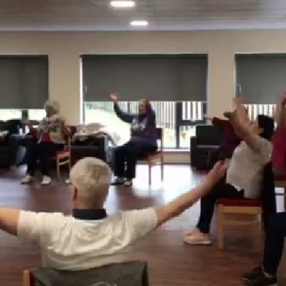 Knightswood exercise class for over 55s
