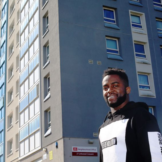 Rudy Mbunzama loves living the high life in Drumchapel