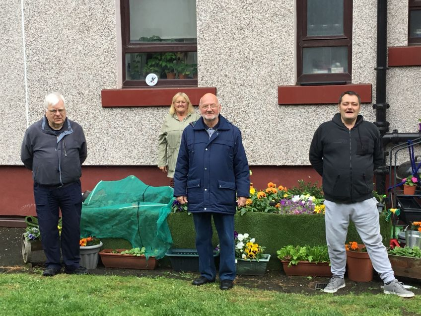 Residents set up a community garden in Riddrie