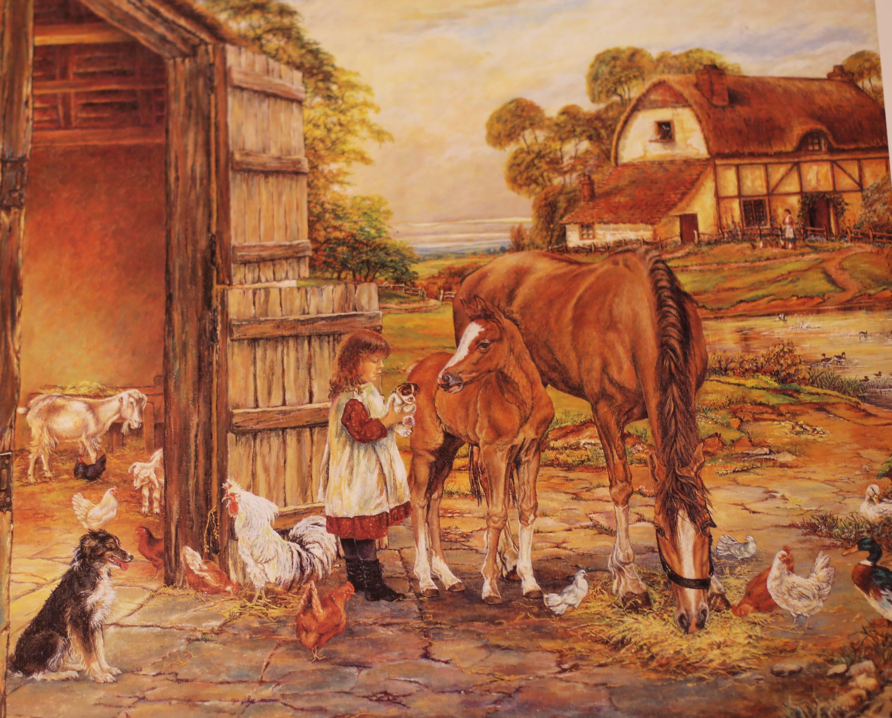 Dora farmyard painting