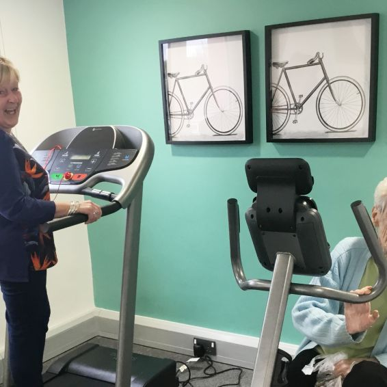 tenants at 415 Nitshill Road enjoy the new gym