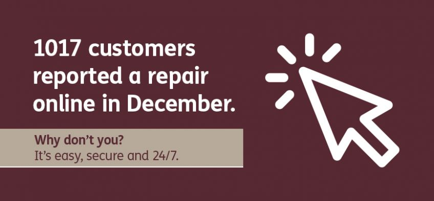 Why don't you report repairs online?