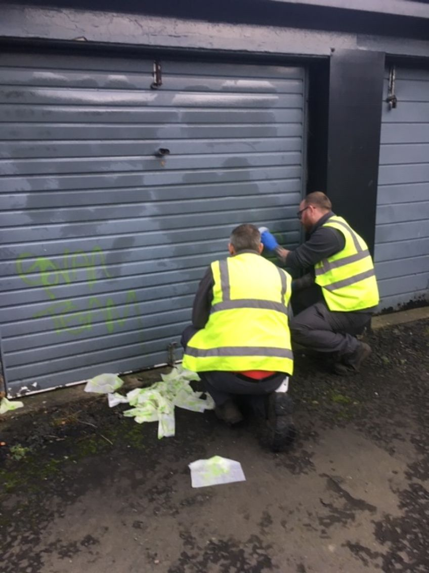 Craigton grafitti after