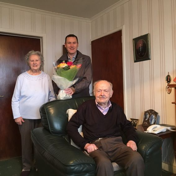 Tenants Sydney and Mary Lomas celebrate 70 years' of marriage
