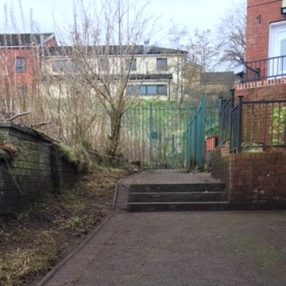 Castlemilk path and stairs after