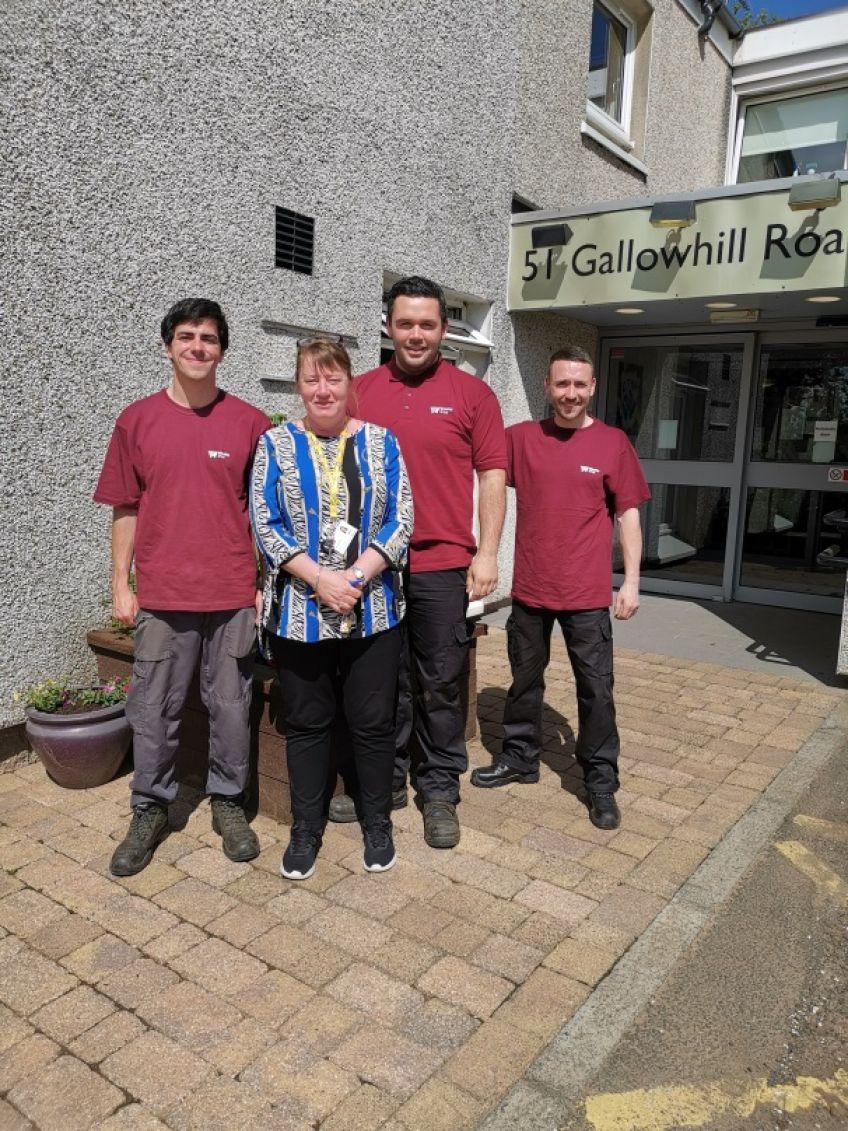Gallowhill Livingwell garden team
