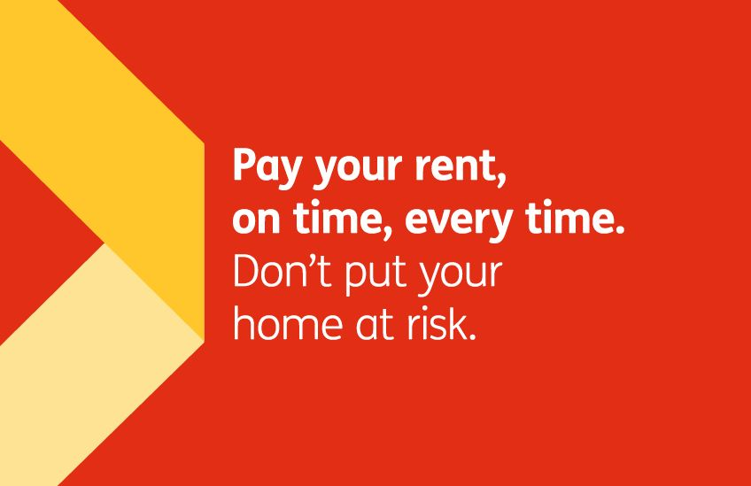 Rent campaign - Pay your rent on time every time letterbox