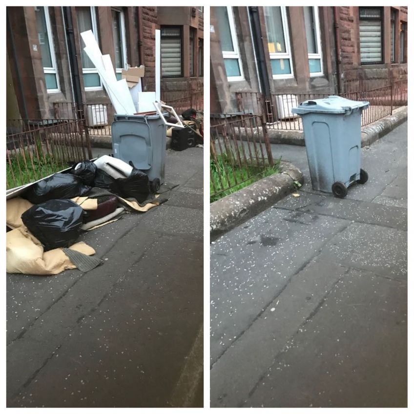 Before and after at MacDougall Street