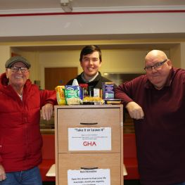 tenants and staff set up a foodbank in GHA Barmulloch office
